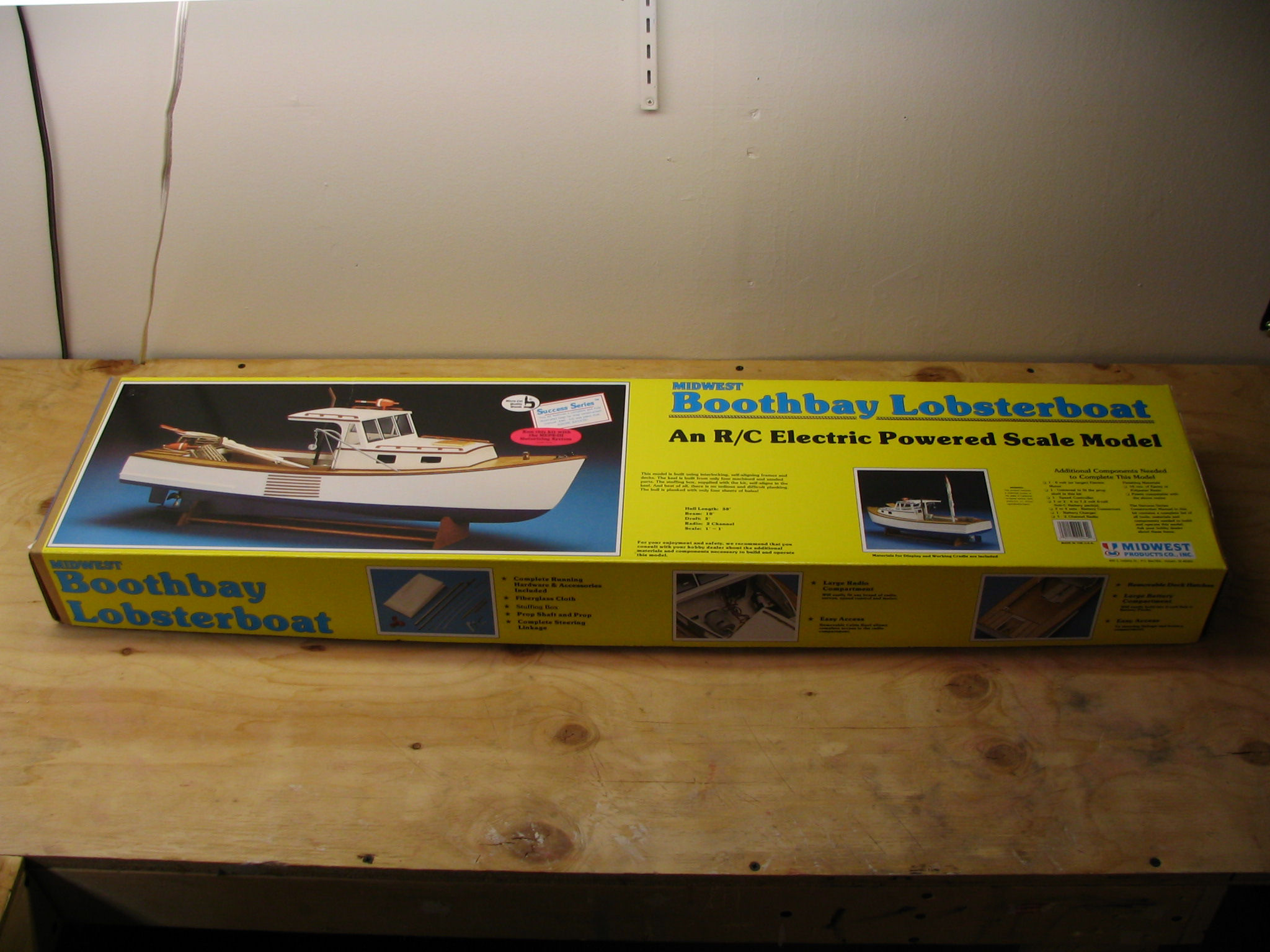 Midwest Boothbay Lobserboat model boat kit review by the