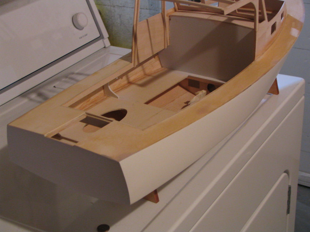Steps for building model boat kit Boothbay Lobsterboat by Midwest ...